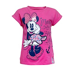 Minnie Maus - T-Shirt für Kinder im Marine-Look