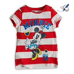 Minnie Maus - T-Shirt für Kinder gestreift