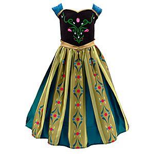Die Eiskönigin - völlig unverfroren - Anna Krönungskleid Kostüm für Kinder