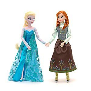 Die Eiskönigin - völlig unverfroren - Anna und Elsa Eislauf Puppenset