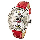 Ingersoll Classic Time Collection - Minnie Maus Armbanduhr mit rotem Armband