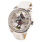 Ingersoll Classic Time Collection - Minnie Maus Armbanduhr mit weißem Armband