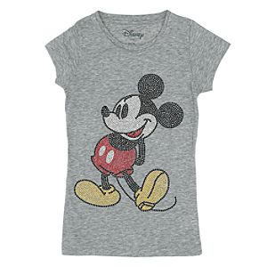 f r disney micky maus t shirt mit strass steinchen f r damen. Black Bedroom Furniture Sets. Home Design Ideas