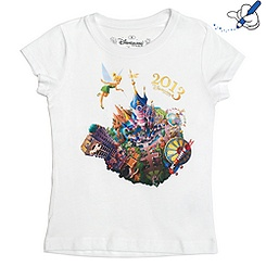 Disneyland Paris 2013 - T-Shirt für Kinder in weiß