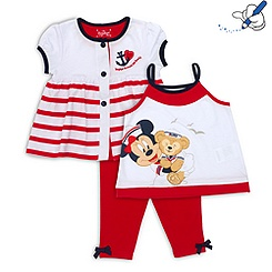Duffy Bär - Set mit Top, Strickjacke und Leggings für Kinder